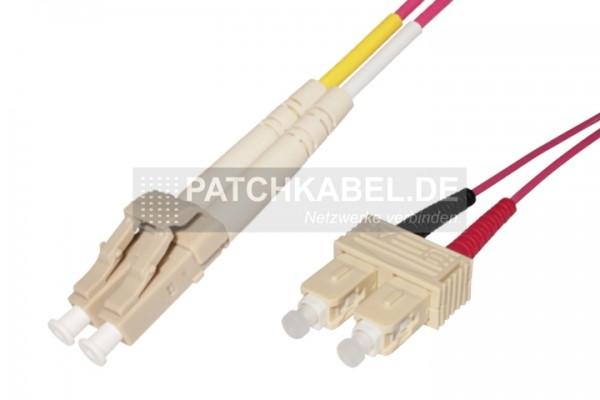 LWL Patchkabel LC-SC 50/125µ OM4