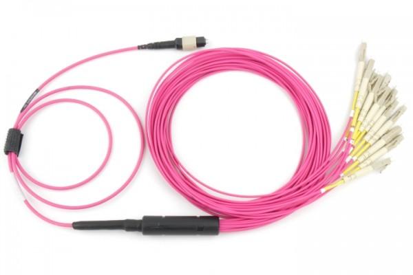 Fanout LWL Kabel MTP® Male - LC OM4