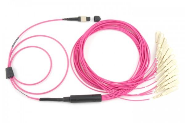 Fanout LWL Kabel MTP® Male - SC OM4
